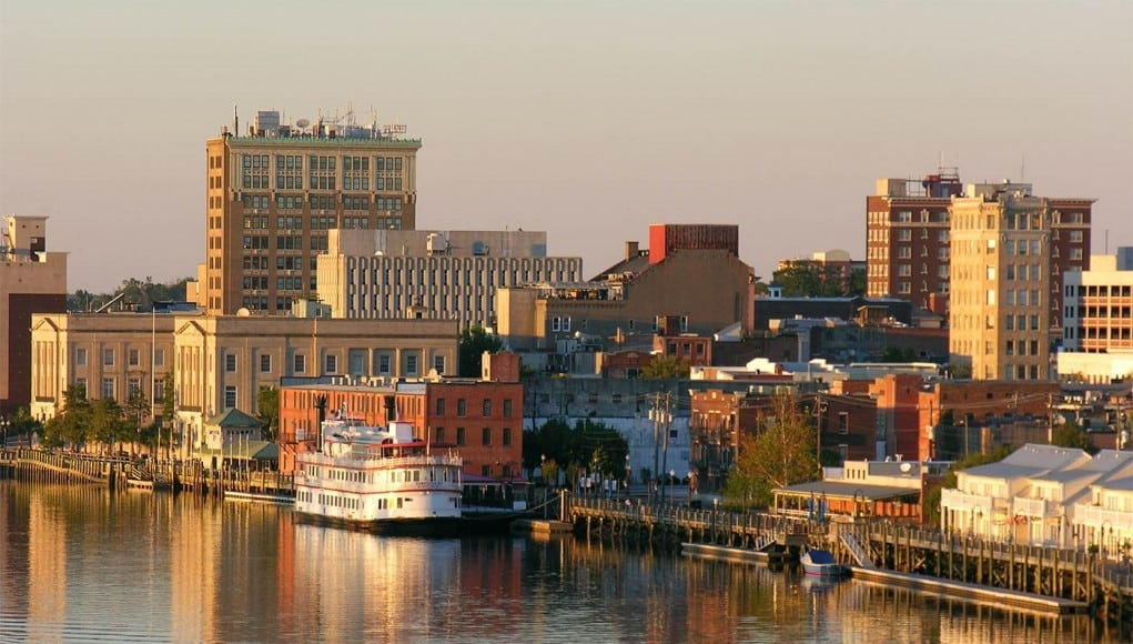 An image of The iconic Riverwalk in Wilmington North Carolina
