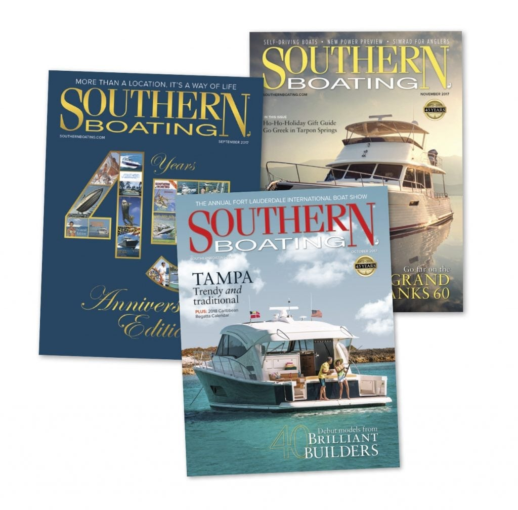 Southern Boating Magazine Covers