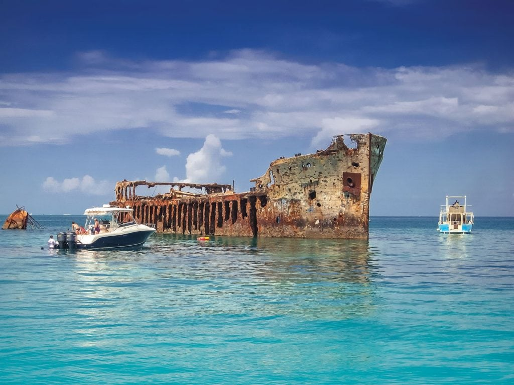 The Concrete Ship Ss Sapona South Of Bimini S Island Is A Por Snorkeling And Diving Spot