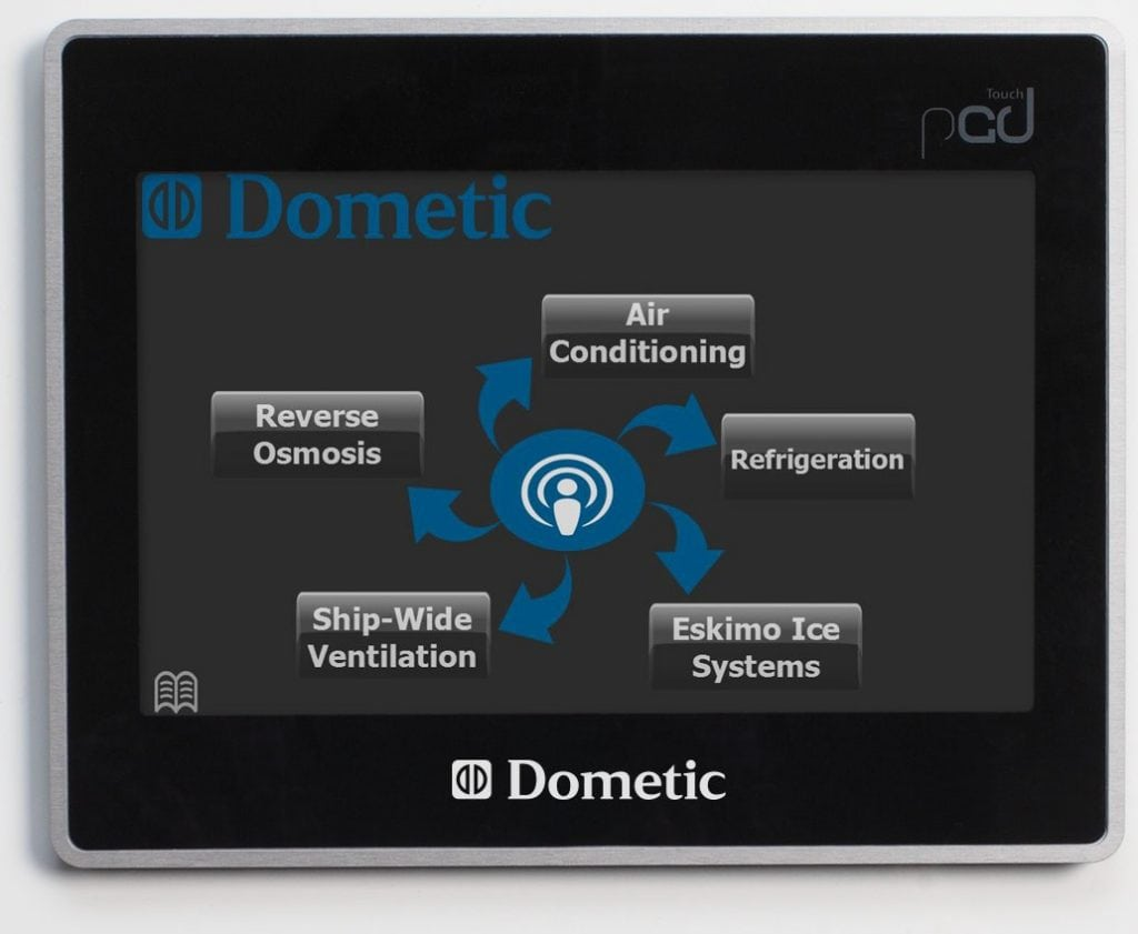 Smart Touch Integrated Intelligence Control (STIIC) home screen on touch-display.