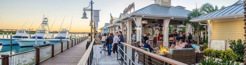 The Outrigger Tiki Bar and Grille is one of the many amenities offered at the New Smyrna Marina.