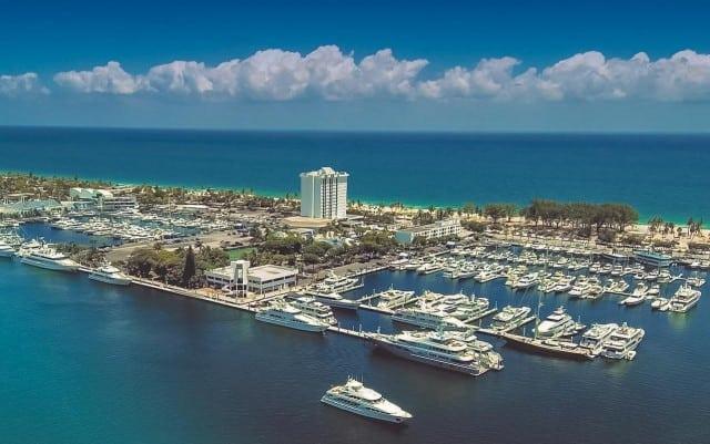 An image of the expansive Bahia Mar Marina