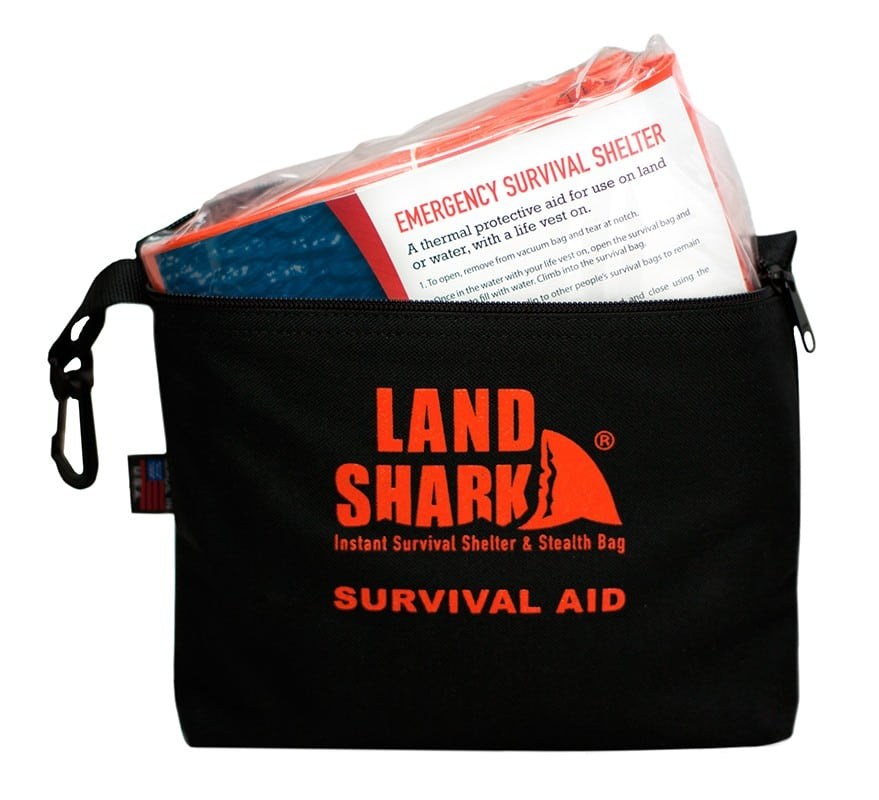 The Land Shark handy bag can be hung anywhere for easy access.