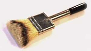 Using a badger-hair brush like this one from dynastybrush.com can make a difference in getting a professional finish.