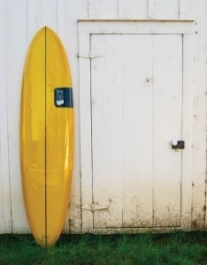 """Tom Sterne has been building custom surfboards since 1997. His handcrafted boards are specifically geared to handle the Gulf's """"slower"""" wave action. Photo: Third Coast Surfboards"""