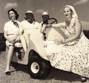 """Tee Time"" courtesy of Bahamas Country Club Golf Tournament. Photo: oldbahamas.com"