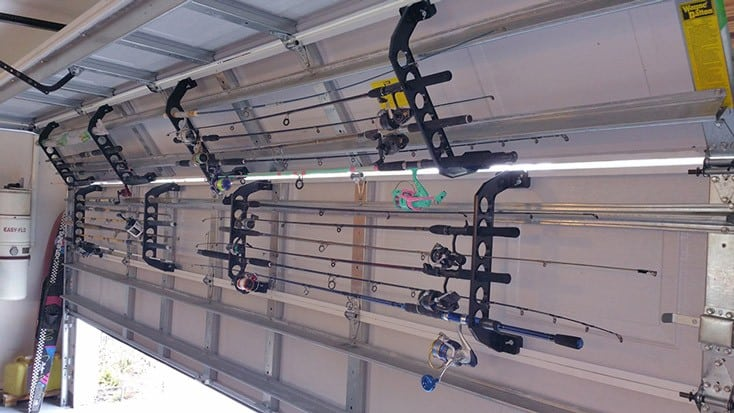 Cobra garage door storage solutions southern boating for How many fishing rods per person in texas