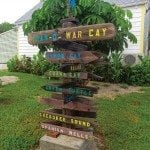 An image of The landmark sign in Man-O-War Cay.