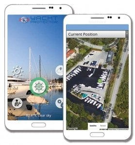 The Yacht Protector app is mobile and user-friendly.