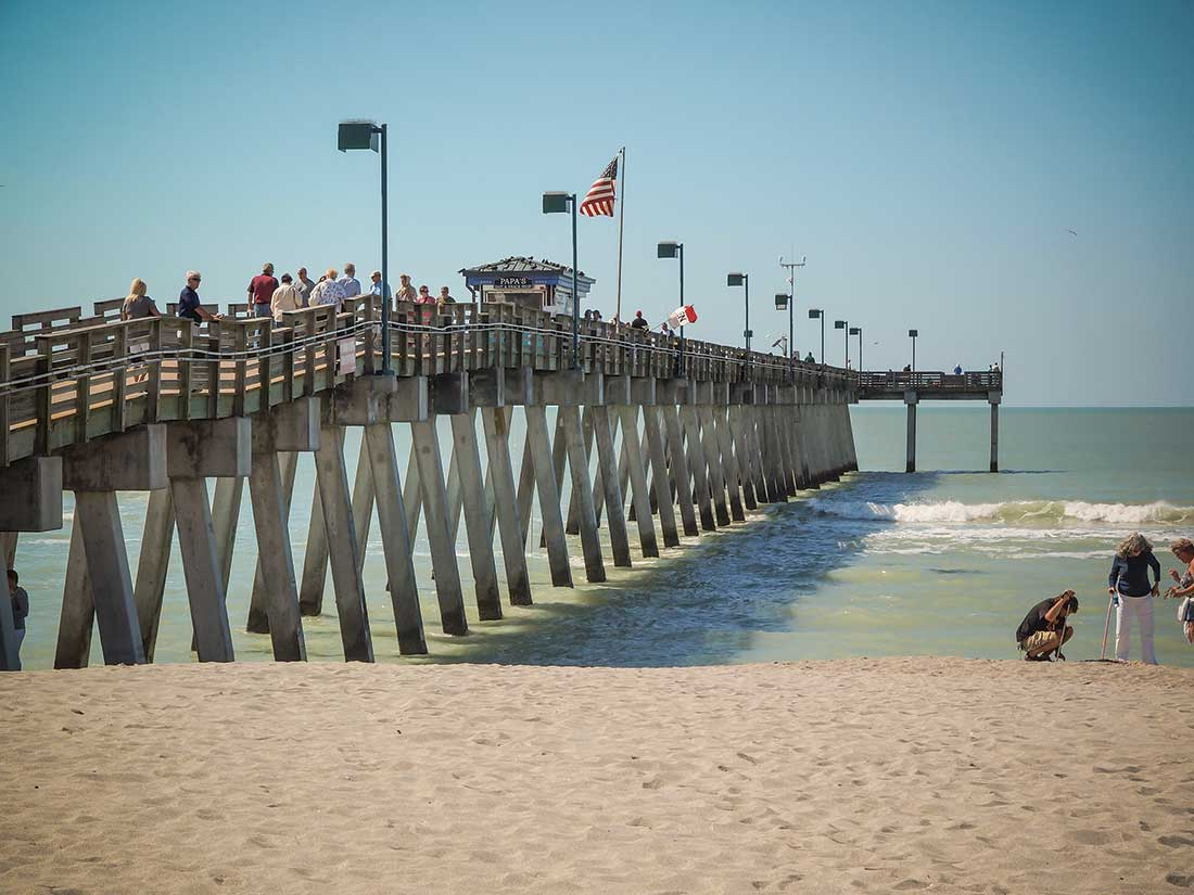 Venice, Florida: Pier at Sharky's on Caspersen Beach, Vienice, Florida