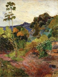 Martinique Landscape by Gauguin in 1887, Scottish National Gallery.