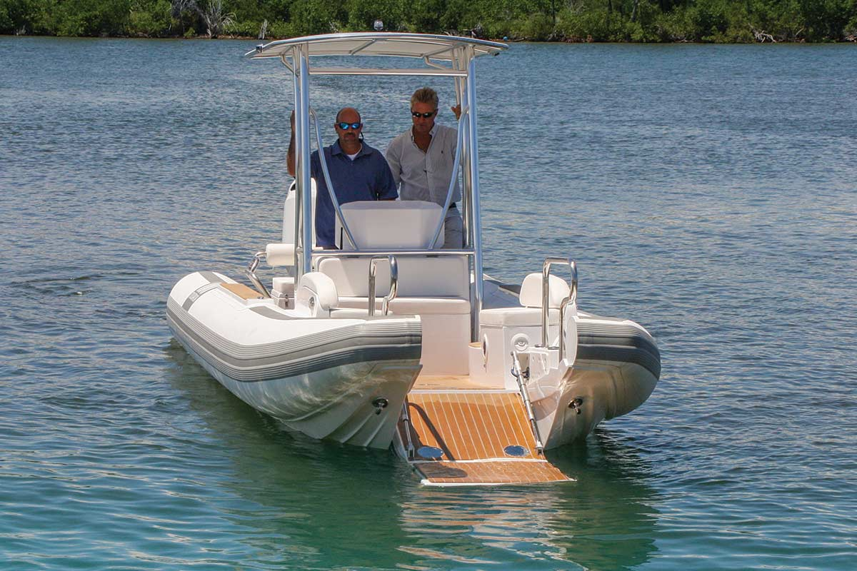 Top 15 tenders and ribs southern boating for Small catamaran fishing boats