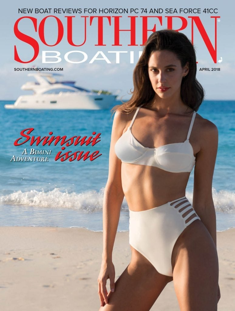The Cover of the April 2018 issue of Southern Boating Magazine