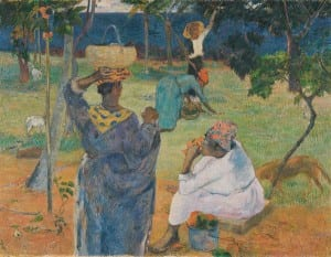 La Cueillette des Fruits (Among The Mangoes), by Gauguin in 1887, Van Gogh Museum, Amsterdam