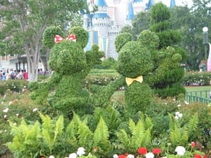 Topiaries at Spring Flower Festivals