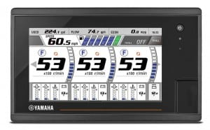 Yamaha partnered with Garmin to power its CL7TM multi-touch display.