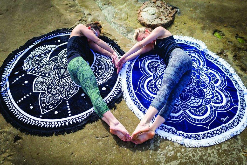 SLIPPA towels for the beach or yoga