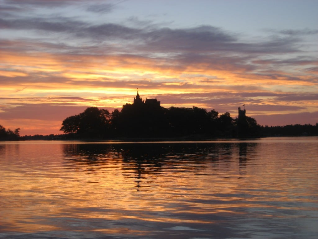 Sunrise over Boldt Castle