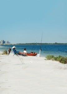 Surf fishing in Pensacola, Florida