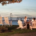 Views overlooking the Pell Bridge in Newport, RI hyatt regency