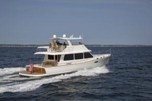 Grand Banks GB 60 cruises off Point Judith, Rhode Island