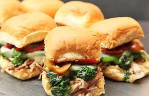 Pork Sliders, pork and broccoli rabe sliders, sliders, lunch, italian lunch