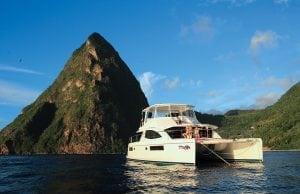 Powercats in the Caribbean, powercat charter, charter a powercat,