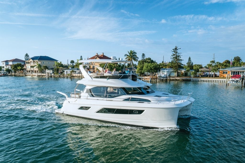 an image of a Aquila 44 Power Catamaran, powercat roundup, best cruising catamarans