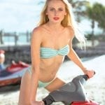 Sarah channels her inner Baywatch on a RWB jetski