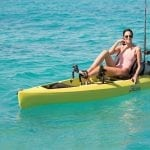 Rachel takes a turn at pedaling on her Hobie Compass Kayak