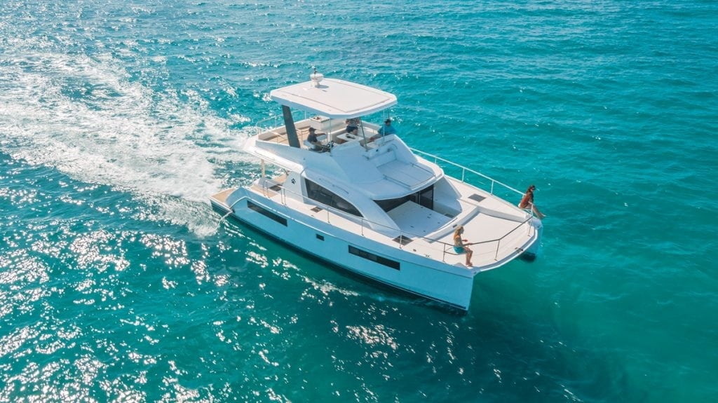 An image of a Leopard 43 powercat in the British Virgin Islands