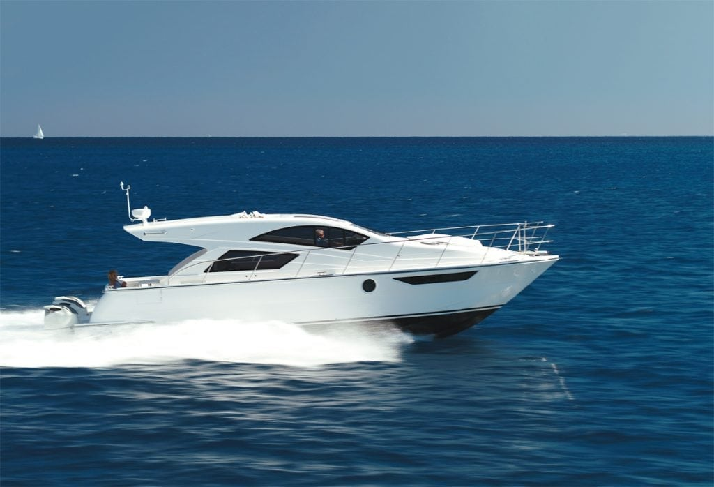 The Mares47 Outboard Express is the ideal go-fast catamaran.
