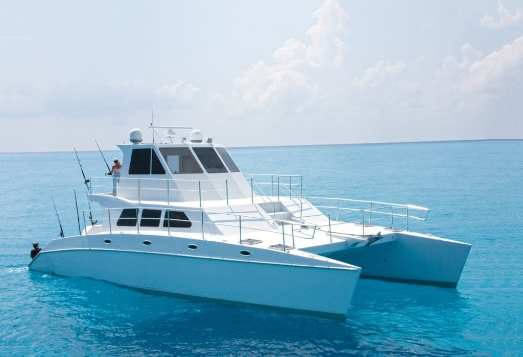 This is an image on an Offshore 52 Powercat.