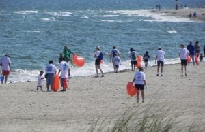 This is an image of Volunteers come out on Clean the Bay Day in the Chesapeake