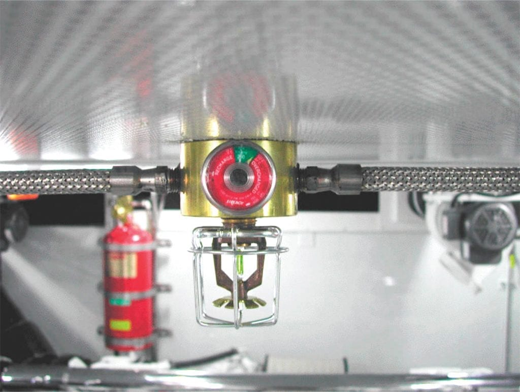 an image of a fire suppression system on a boat