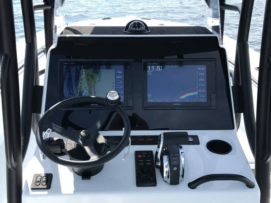 The view from a Barker Boat using the Uflex Paddle Trim system