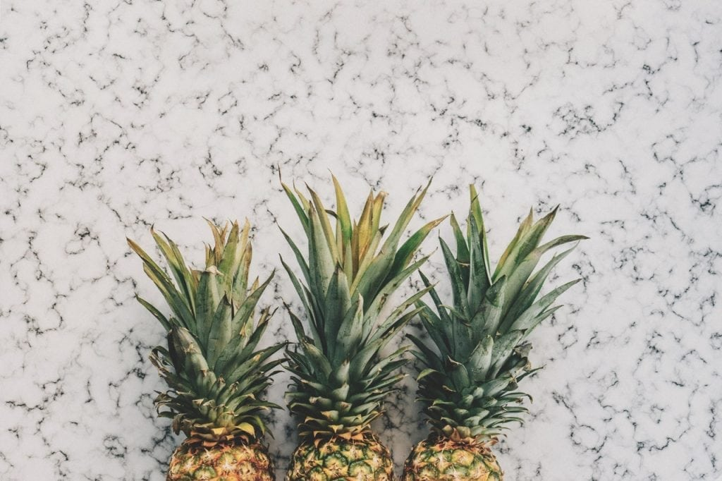 an image of three pineapple