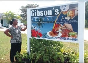 a sign with Gibson's #2 Restaurant