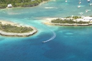 An image of Man-O-War Cay in the Bahamas