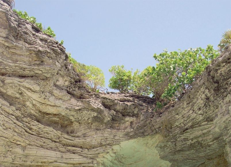 an image of the scenic caves of Northern Long Island