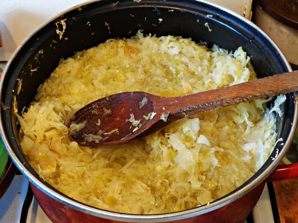 an image of a bowl of Sauerkraut