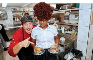 An image of celebrity chefs at the Nevis Mango and Food Festival