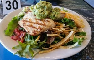 an image of Grilled Fish taco salad