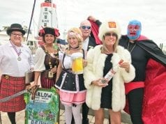 "The ""Drinking Around the World"" gang at the 22nd Annual Marlow Spring Rendezvous"