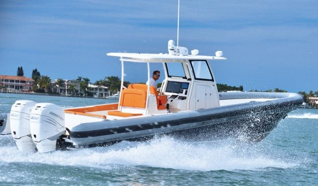 an image of the Ocean 1 360 a center console RIB