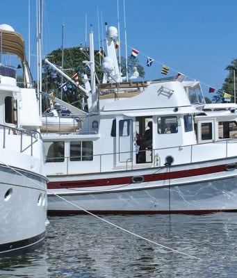 An image of three trawlers, part of Marine Trawlers Owners Association