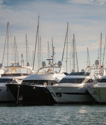 an image of boats in a harbor