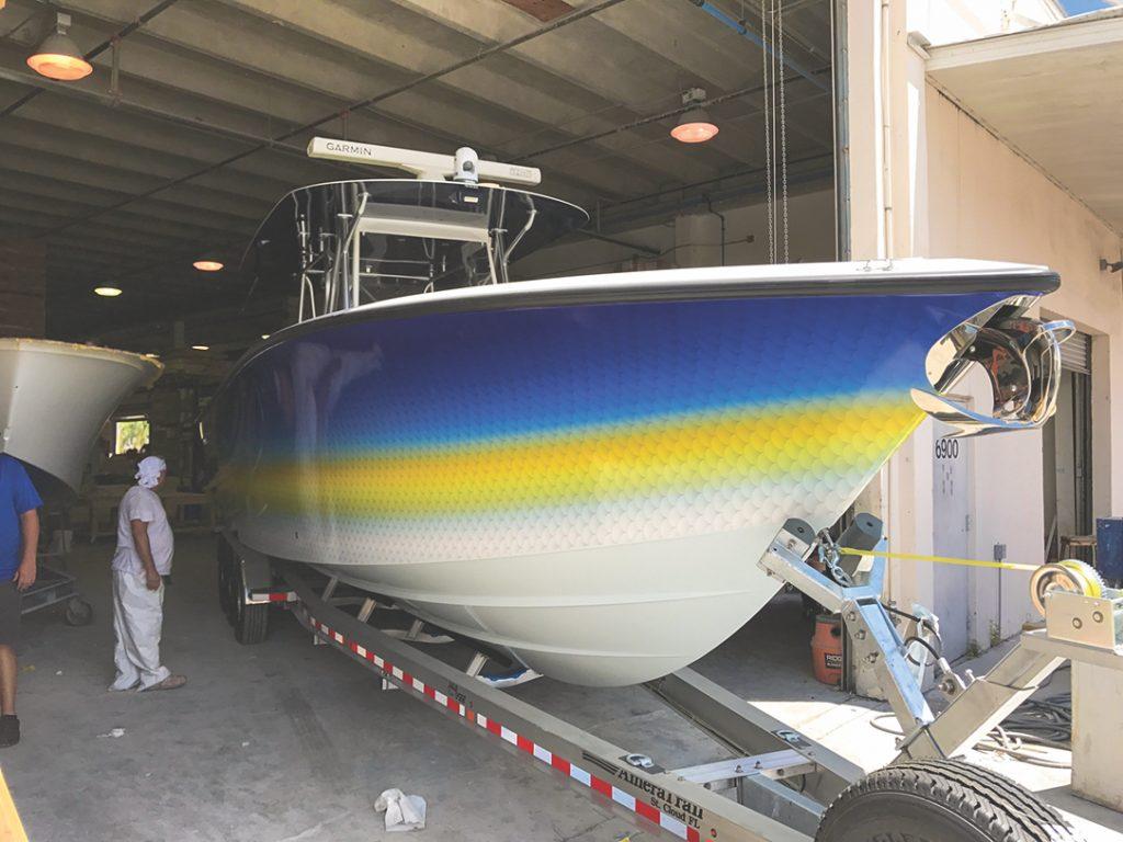 Vinyl Boat Wraps