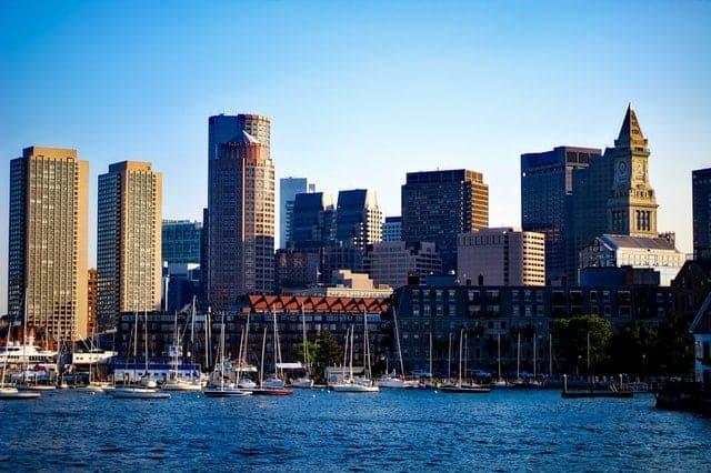 An image of Boston Harbor