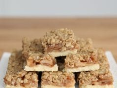 an image of apple crumb bars